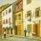 Židovská ulica, domy č. 17, 19, 20, cca 1930