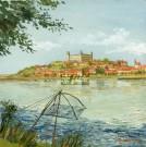 Dunaj pod zrúcaninami Bratislavského hradu, 1950
